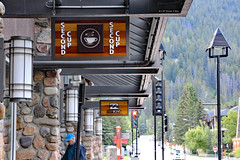 Supporting Second Cup (Canadian Pacific) Tags: alberta canada canadian rocky mountains rockies banff town centre center downtown 2017aimg0202 second cup coffee shop cafe café 317 banffavenue wolfstreet
