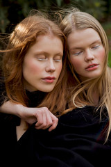 Two souls (FlaviaCatena) Tags: portrait models girls two duo artistic creative make up designer fashion