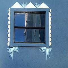 curtains would be overkill (msdonnalee) Tags: window windowreflection ventana fenster finestra fenêtre janela blue blu azul blau 窓 окно синий 青い أزرق explore