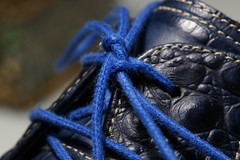 Bow knot (Ronaldc5) Tags: sony a99 sal100m28 macro endangeredbluecrocodile leather buttonsandbows macromondays shoe string stringsattached