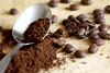 Coffee (Wilamoyo) Tags: cafe powder beans brown drink caffeine coffee blur cooking filter ground spoon silver meal beverage pattern