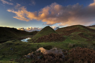 Sunset at the Magical and Mystical Fairy Glen, Skye Scotland