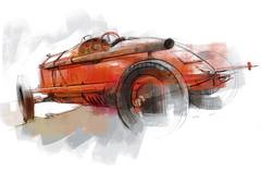 fiat s61 s (Stefan Marjoram) Tags: sketch drawing ipad pro procreate apple pencil car vintage racing plein air