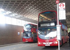 End of a chapter, 188   Abellio London 9022 BX55XLT to North Greenwich (Unorm001) Tags: 9022 bx55 xlt bx55xlt red london double deck decks decker deckers buses bus routes route 45 176 188