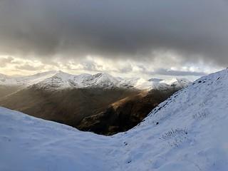 The Five Sisters of Kintail walk, Highlands, Scotland November 2017