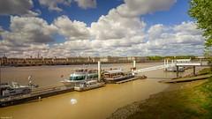 Croisière Bordeaux - 4052 (YᗩSᗰIᘉᗴ HᗴᘉS +11 000 000 thx❀) Tags: clouds nuages cloudy bordeaux aquitaine gironde garonne water boat architecture river blue landscape waterscape hensyasmine yasminehens 7dwf