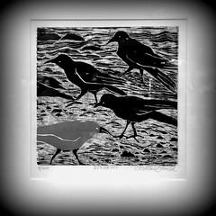Dissent. (Joseph Skompski) Tags: montpeliervt montpelier vermont print artgallery gallery carolmacdonald woodblock holga
