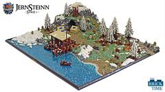 Jernsteinn on Sølvheim - a calderian colony - stage 1 (Wochenender) Tags: brick time chrono fantasy north jernsteinn ship ice snow trees landscape lego