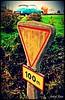 Vestige Routier (andre2cv87) Tags: citroen ds id 19 vert epicea 1964 ancien vieux panneau michelin beton arme lave emaillee chateaulin bretagne finistere france vintage cedez le passage