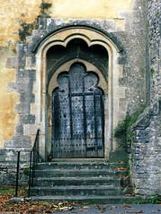 Old Doorway (peterphotographic) Tags: pb131163cb2ednc1dedwm olddoorway olympus em5mk2 microfourthirds ©peterhall wells wellscathedral westcountry somerset england uk britain church cathedral door doorway arch yellow steps old medieval