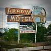 Arrow Motel (El Busta) Tags: espanola new mexico motel sign vintage neon rusty rust bow arrow indian native american classic air conditioned abandoned broken