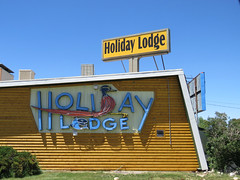 Holiday Lodge (3 of 3) (jimsawthat) Tags: smalltown lander wyoming motel campground vintagemotel vintagesign neon metalsign