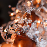 Christmas Lights Background with the Silver Ornament thumbnail