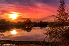 Chandler, AZ sunset over lake (ric426) Tags: pentax sunset chandler az lake pentalife clouds nature pentaxk70