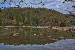 Indian Trail on the Chattahoochee (JavaJoba) Tags: nature trees park river reflection tree sky hdr water forest hiking