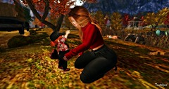 bitbitmommie (tantalize andretti) Tags: toddleedoo lazlo badseed diva redhead kneels daughter mother poses fall