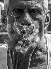 LRe Mumbai 2015-849 (hunbille) Tags: birgittemumbai32015lr india mumbai bombay colaba wtc worldtradecenter world trade center slum smoke smoking cigarette hand ring washing laundry dhobi wallah dhobiwalla walla wala jewelry