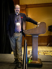 Presenting at the TMW 2017 Banff conference. (Gord McKenna) Tags: gordmckenna gord mckenna tailings mine waste tmw 20177 banff fairmont springs ab alberta canada rockies self portrait geotechnical inc keynote presentation