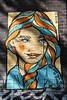 SHE LOST HER ♡ TO ST. PAULI (just.Luc) Tags: young jung jong jeune face gezicht visage gesicht portret portrait ritratto retrato vrouw femme frau donna mujer woman graffiti urbanart streetart allemagne deutschland duitsland germany amburgo hamburg hambourg schanzenviertel blue bleu blau azul blauw orange oranje elbocho