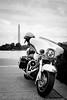 Police Harley (Dalliance with Light (Andy Farmer)) Tags: washingtonmonument harley washingtondc bw monochrome police motorcycle washington districtofcolumbia unitedstates us