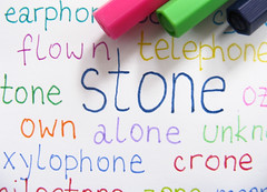 stone (3OPAHA) Tags: hmm macromondays stone macro words colours canon