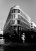Hannover City Center (Mister G.C.) Tags: blackandwhite bw image streetshot streetphotography photograph candid people woman lady female cityscape buildings architecture shadows light unposed monochrome urban town city sonya6000 sonyalpha a6000 mirrorless telephoto zoom lens sel18105 18105mm sonyglens sony18105mmepz f4 mistergc schwarzweiss strassenfotografie niedersachsen hannover lowersaxony deutschland europe