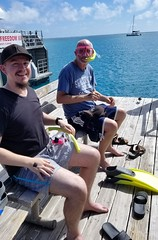 Chad and Doug getting ready to snorkel (renedrivers) Tags: renedrivers rchan415 florida