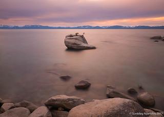 Lake Tahoe Sunset at Bonsai Rock