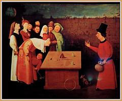 """""""L'Escamoteur"""" (1496) Jérôme Bosch (1450-1516), Jheronimus Bosch Art Center, S'Hertogenbosch, Brabant-Septentrional, Pays-Bas (claude lina) Tags: claudelina hollande paysbas nederland brabantseptentrional shertogenbosch boisleduc jheronimusboschartcenter jérômebosch église church kerk peinture painting tableau oeuvre lescamoteur"""