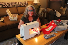 Let the Crafting Begin! (ruthlesscrab) Tags: christmas stocking craft sewing