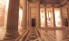 Path To French Greatness (Eye of Brice Retailleau) Tags: angle beauty composition landscape panorama paysage perspective scenery scenic view vanishing point path chemin camino backpacking wideangle architecture bâtiment indoor indoors columns europe france paris pantheon