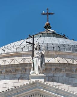 The Religion watches over Piazza del Plebiscito