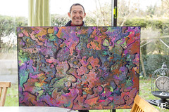 The Universe LM+35 1005853 (mich53 - thank you for your comments and 5M view) Tags: artiste peintre artsmantevillois sourire leicamtype240 summiluxm35mmf14asph abstract abstrait art télémètre telémetro rangefinder friends fferblantier