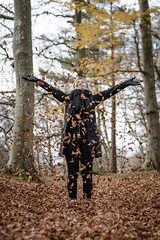 Make it rain (Chris B70D) Tags: winter walk scotland edzell rocks solitude path autumn stream river water fall reflections light scene colours orange brown tree leaves nature natural photogenic glare long exposure bridge texture contrast figure person form shape scottish fresh air 70d outdoors canon