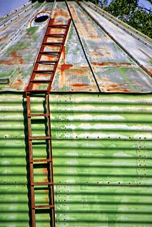 Rusty ladder.