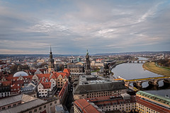 Dresden from the  Church of Our Lady (Tony_Brasier) Tags: water walking people peacefull location lovely germany dresden nikon river road church sky sigma fun 1750mm bikes bridge bluesky d7200