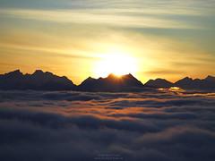 Sunset at Karwendel (Bernhard_Thum) Tags: sunset karwendel bavaria alps hasselblad carlzeiss superachromat56250cf nature elitephotography capturenature