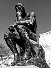 you all know this guy (#KPbIM) Tags: 2017 fall november dia art sculpture institute downtown woodward arts detroit white black bw thinker
