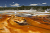 Black Sand Basin_27A0686 (Alfred J. Lockwood Photography) Tags: alfredjlockwood nature landscape blacksandbasin geyser geothermalrunoff geothermalpool microbialmat color texture clouds forest eruption yellowstonenationalpark summer morning travelphotography thermophiles extremophiles