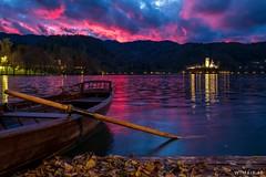 Autumn Bled (Wim Air) Tags: bled autumn slovenia boat colorful sundown wimairat lake water sea