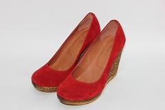 Красные замшевые туфли на танкетке (azzafazzara) Tags: туфли обувь красный