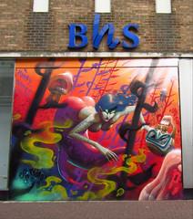 Southend-on-Sea, Essex (Steven K. Hearn) Tags: artwork defunctbusinesses bhs britishhomestores southendonsea essex england streetart