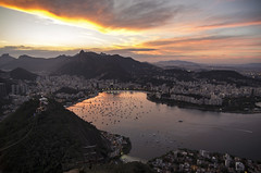 Sunset from Sugarloaf (Alison T30) Tags: sunset sugarloaf rio riodejaneiro paodeacucar
