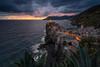 Vernazza Evening (martin.matte) Tags: italy sunset evening ancient landscape europe water sky clouds drama sea vernazza ligurien
