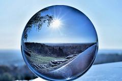 Morning Sun (Geoff Henson) Tags: crystalball sunburst view morning round sphere