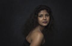 Exotic Princess (xipevideo) Tags: portraitphotography nikon godox profoto umbrella dark backdrop canvas painterly