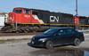 The Trusty Foam Mobile (Joseph Bishop) Tags: cn 5636 emd sd75i brantford cndundassubdivision toyota corolla trains train track tracks railfan railroad railway rail rails