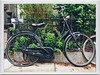 Black Bike (street level) Tags: newyorkcity nyc williamsburg brooklyn iphoneography locked black bicycle