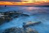 Last Light. . .Last Ride (tltichy) Tags: lajolla blue coast cove longexposure ocean orange pacific reef rocks rocky sandiego sandstone sea seascape sunset tidepools