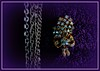 6088  Chains and  brooch. (Andy - Busy Bob) Tags: bbb brooch jewelry jjj lll lowkey necklace nnn picasaborder picasavignette ppp purple towels ttt